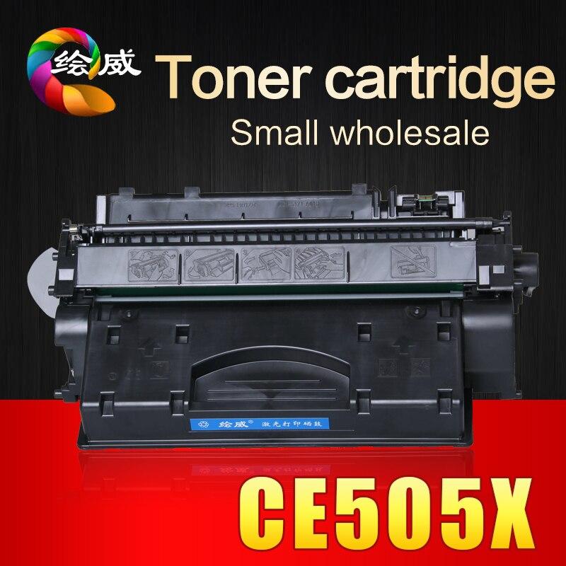 Voll nachfüllbare CE505X 505 505X 05X kompatibel tonerkartusche 6500 seiten für HP...