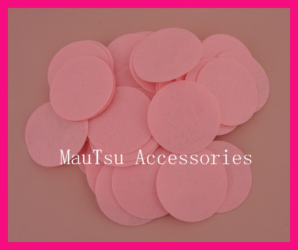200PCS 5.0cm 2.0 Lt Pink round felt pads appliques for flower and broochesback,round felt spacers,non-woven Circles patches