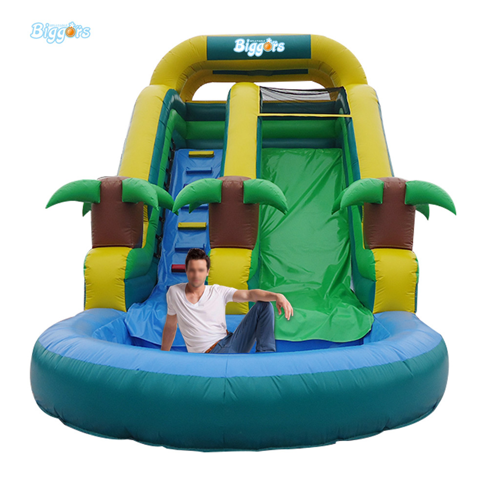 Cheap Inflatable Water Slides with Round Pool for Sale 2017 summer funny games 5m long inflatable slides for children in pool cheap inflatable water slides for sale