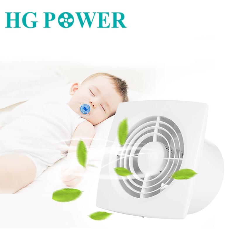 6'' 220v Low Noise Home Air Blower Ventilator Bathroom Ventilation Fan Hotel Wall Fan Silent Extractor Exhaust Fan For Kitchen
