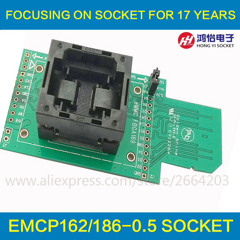 EMCP162 186 socket adapter connector smart digital device GPS device flash memory data recovery burn-in test programming code free shipping sop32 wide body test seat ots 32 1 27 16 soic32 burn block programming block adapter