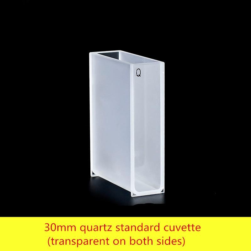 30mm quartz standard cuvette (transparent on both sides/high temperature resistant acid and alkali/10ml30mm quartz standard cuvette (transparent on both sides/high temperature resistant acid and alkali/10ml