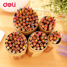 Deli 2019 Nature Wood Colored Pencils Set 12/18/24/36/48 Colors For Drawing Painting Sketch Lapis De Cor School Artist Supplie deli 2019 nature wood colored pencils set 12 18 24 36 48 colors for drawing painting sketch lapis de cor school artist supplie