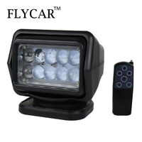 FLYCAR 1 PCS 50W LED Search Light With Remote ControlEmergency Lighting Construction Lighting for Jeep Car Boat 4x4 ATV Truck
