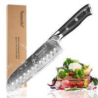 """SUNNECKO calda 7 """"pollici Santoku Coltello Da Cucina Giapponese VG10 Acciaio Inox Lama di Rasoio Sharp Damasco Taglio Chef di Cucina G10 maniglia"""