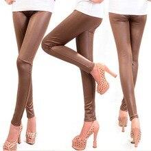 Autumn Winter Faux Leather Leggings For Women Lady Leggins P