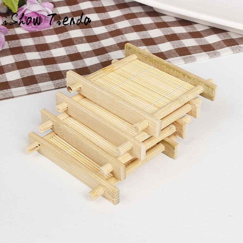 Aliexpress.com : Buy Natural Bamboo Wood Bathroom Shower ...