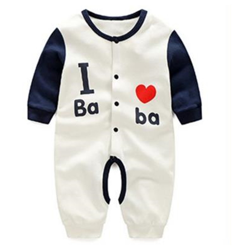 2017 New spring newborn baby rompers long sleeve cotton infant costums baby boys girls clothes A004 newborn baby rompers baby clothing 100% cotton infant jumpsuit ropa bebe long sleeve girl boys rompers costumes baby romper