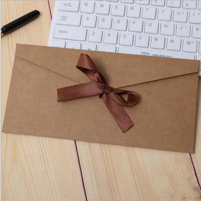 Купить с кэшбэком (220*110mm)30pcs/lot Color western-style envelopes A5 blank bills receive bag Kraft envelope paper Enveloppe Wedding invitations