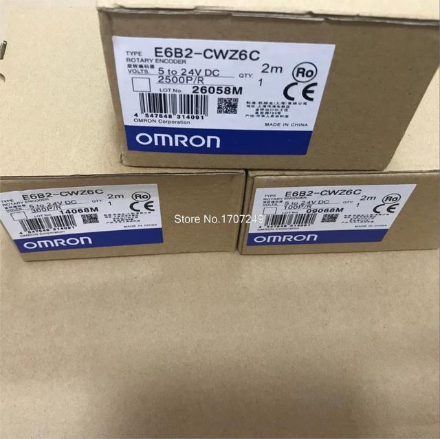 Бесплатная доставка, E6B2CWZ6C OMRON роторный энкодер, E6B2 CWZ6C 20 30 40 60 100 200 360 400 500 600 1000 1024 1800 2000 2500P/R 5 24 В