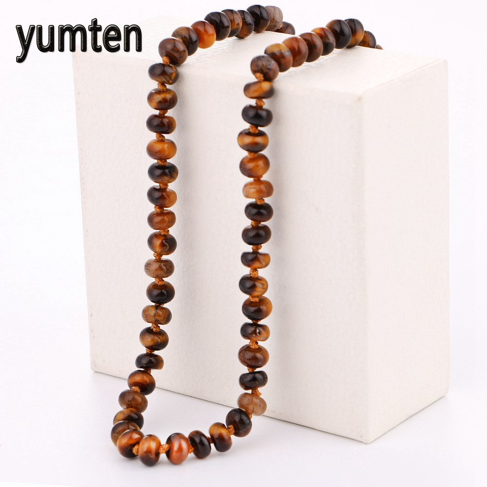 moda praia Women necklace tiger eye stone and charm pendant 108 mala chakras direct mail yoga necklace Gifts Lovers overwatch