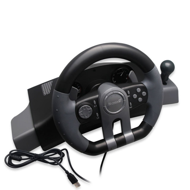 3 in 1 with foot pedal Steering Wheel USB Wired Vibration Motor Racing Game Steering Wheel For PS3/PS4/PC Game bulk pack TW-649