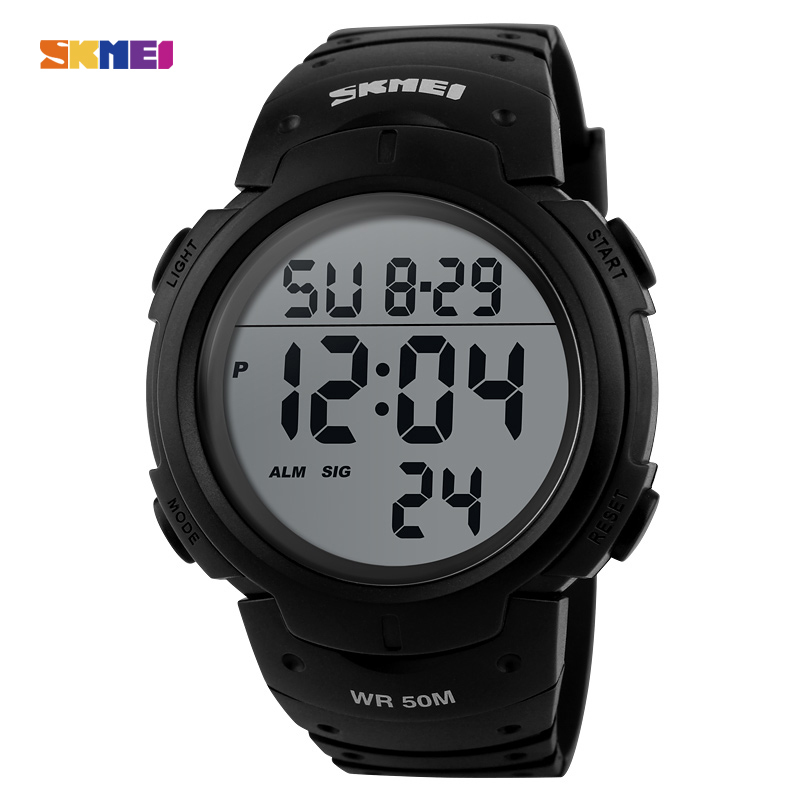 ФОТО SKMEI 1068 Men Watch Digital Sport Watches Relogio Masculino Stopwatch Outdoor Waterproof Sports Chronograph Wristwatches