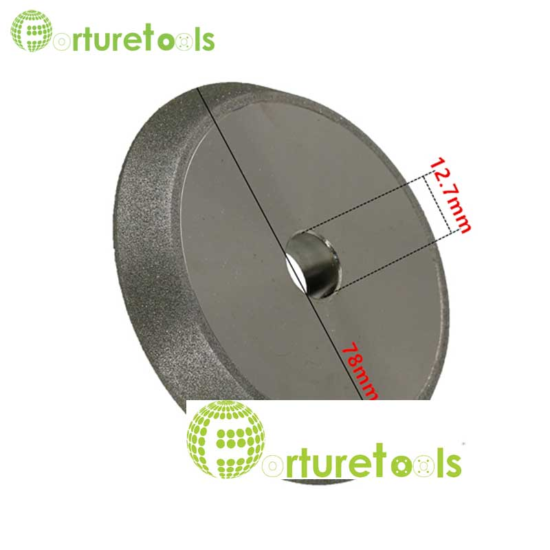 Taperized Electroplated diamond grinding wheel for tungsten carbide tools sharpening electroplated CBN wheel 1/2 inch hole E017 1piece electroplated diamond grinding wheel dia 65mm hole 22mm for round and straight 3 12mm glass edge tz74