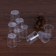 20Pcs/set Clear Disposable Plastic Cups Jelly Tumblers Portable Outdoor Travel Drinkware Birthday Wedding Party Supplies
