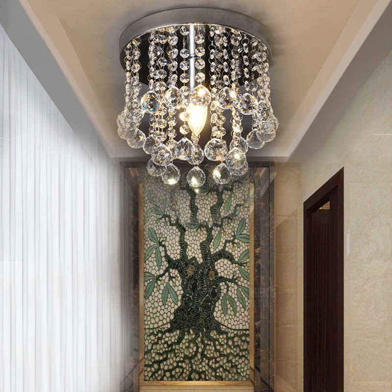 Современный кристаллический креативный потолочный светильник Plafonnier E14 Светодиодный 220 В потолочный светильник для гостиной Холл ресторана балкон вход