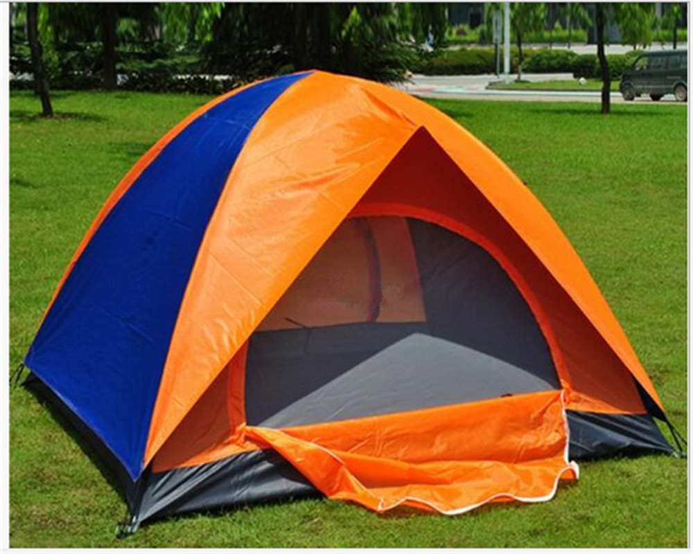 Outdoor Camping Tent Large 3-4 Person Tent Tourist Tents Camping Family Party Recreation Double Layers Waterproof Tents stanley powerlock 5m 0 33 194 рулетка silver