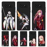 P031 Darling In The Franxx Cute Black Silicone Case Cover For Samsung Galaxy Note 3 4 5 8 9 10 Plus M10 M20