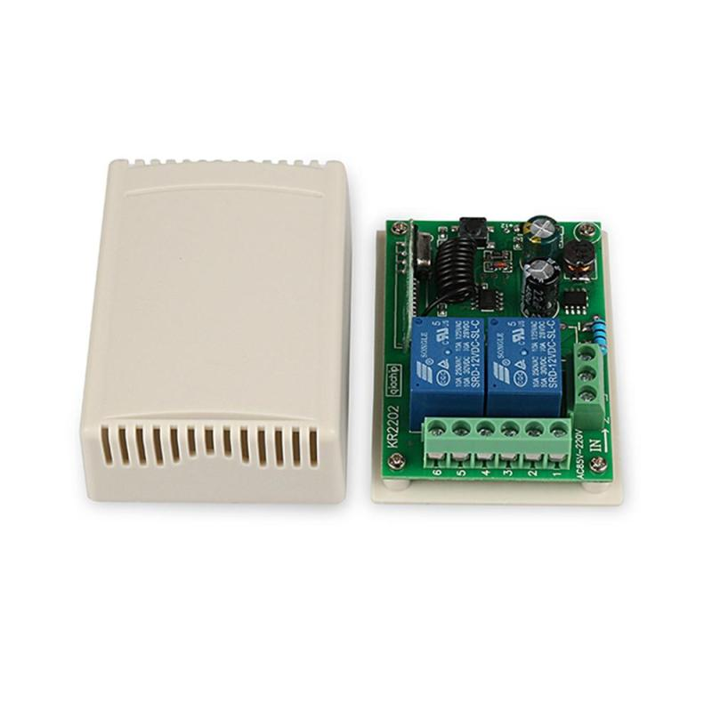 AC 85V~250V 110V 220V 433MHz Universal 2 CH Wireless RF Relay Remote Control Switch Receiver Learning Button Light Smart Module