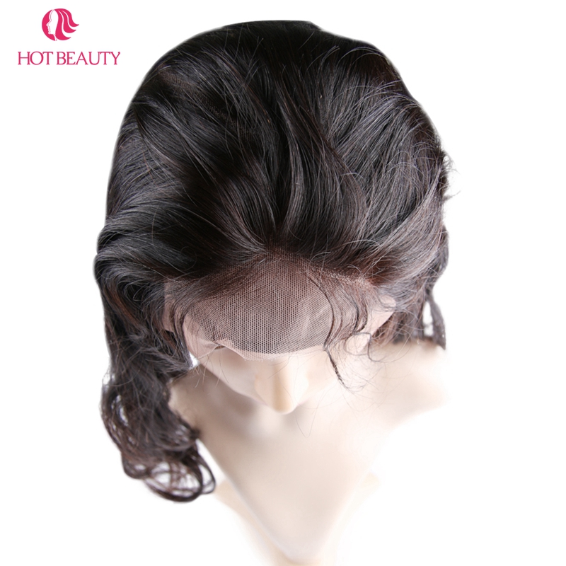 Hot Beauty Hair Remy brésilien Hair Wave Body 360 Dentelle Frontale - Cheveux humains (noir) - Photo 6