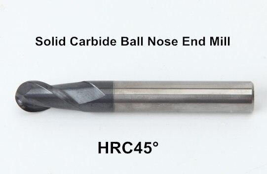 HRC55 2Flutes R1.5 Solid Carbide Ball Nose End Mills  L 50MM