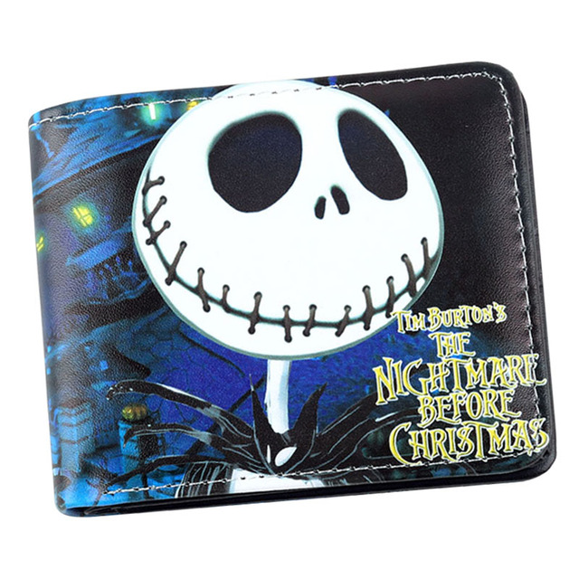 Anime Nightmare Before Christmas Wallet Jack Skellington Wallet Short Purse Bag