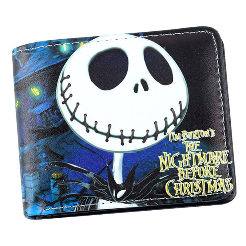 Anime Nightmare Vor Weihnachten Brieftasche Jack Skellington Geldbörse Kurz Tasche SchöN Und Charmant Herrenbekleidung & Zubehör