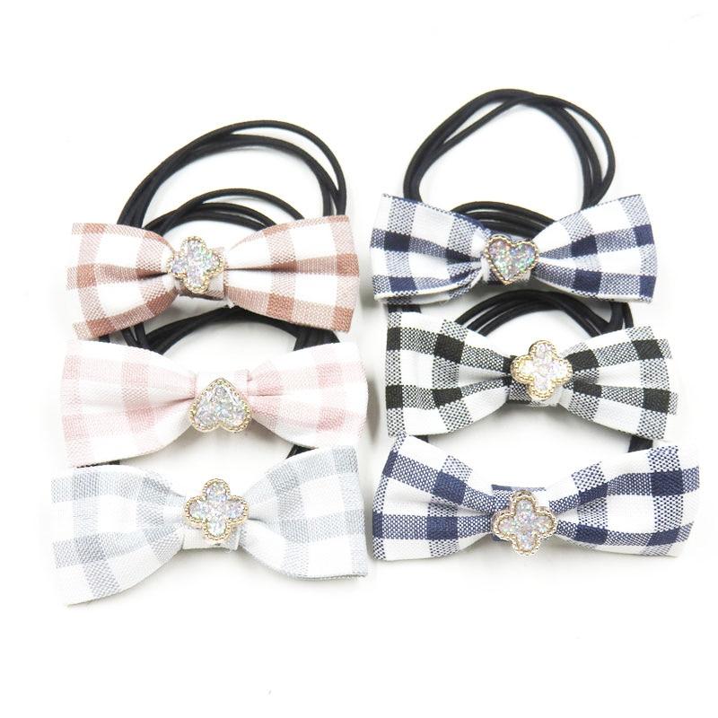 1PCS Simple Cloth Knot Clover Elastic Hair Bands For Girls Bohemian Headband Scrunchy Fashion Kids Hair Accessories For Women