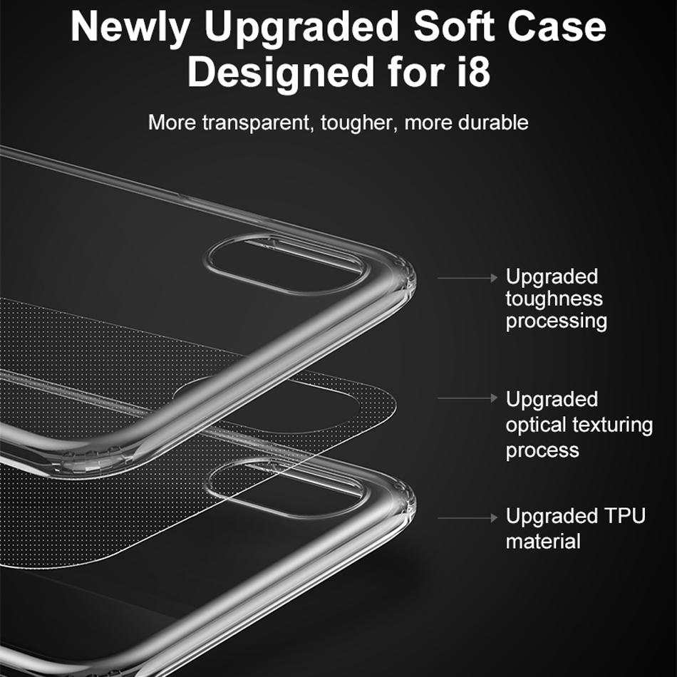 Oppselve Luxury Case For iPhone X 10 Capinhas Ultra Thin Anti knock Clear Soft TPU Silicone Cover Case For iPhoneX Coque Fundas in Fitted Cases from Cellphones Telecommunications