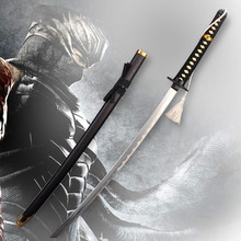 ninja gaiden Samurai sword vintage home decor anime Ginsu knives cosplay Metal Katana(China)