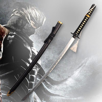 ninja gaiden Samurai sword vintage home decor anime Ginsu knives cosplay Metal Katana