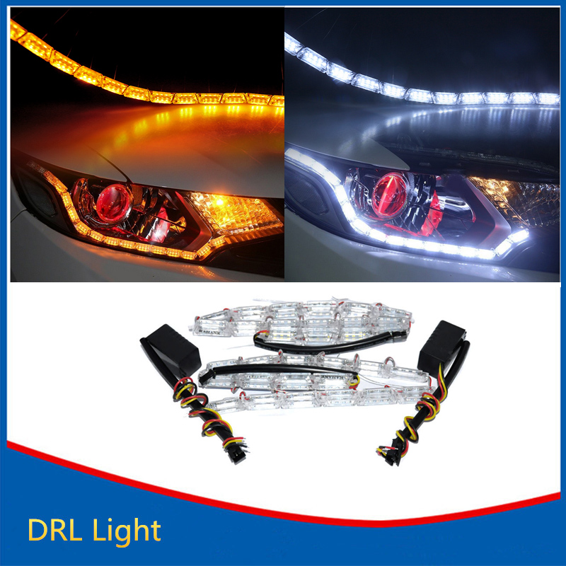 ᐊ2pcs Led Hot Sale 169 Strip Strip Flexible Light Waterproof Daytime Running ᗑ Lights Lights Drl