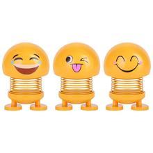 Innovative Smiley Spring Doll Emoji Car Ornaments Lovely Shaking Head Decoration