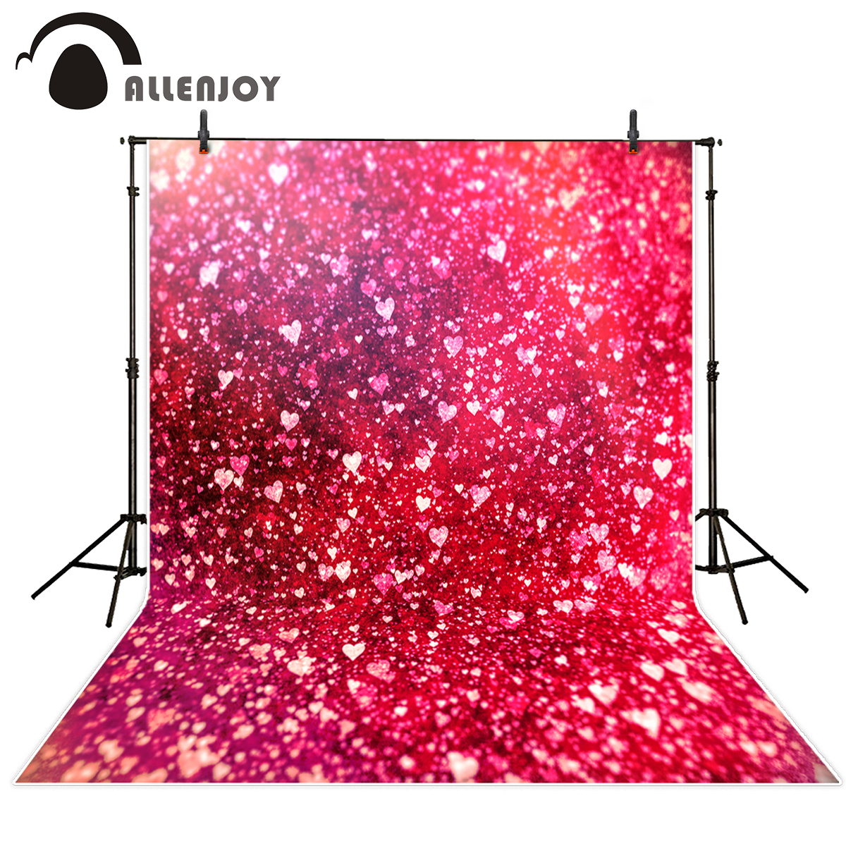Allenjoy photography backdrops Valentine's Day heart love pink bokeh wedding photography background for studio photo background