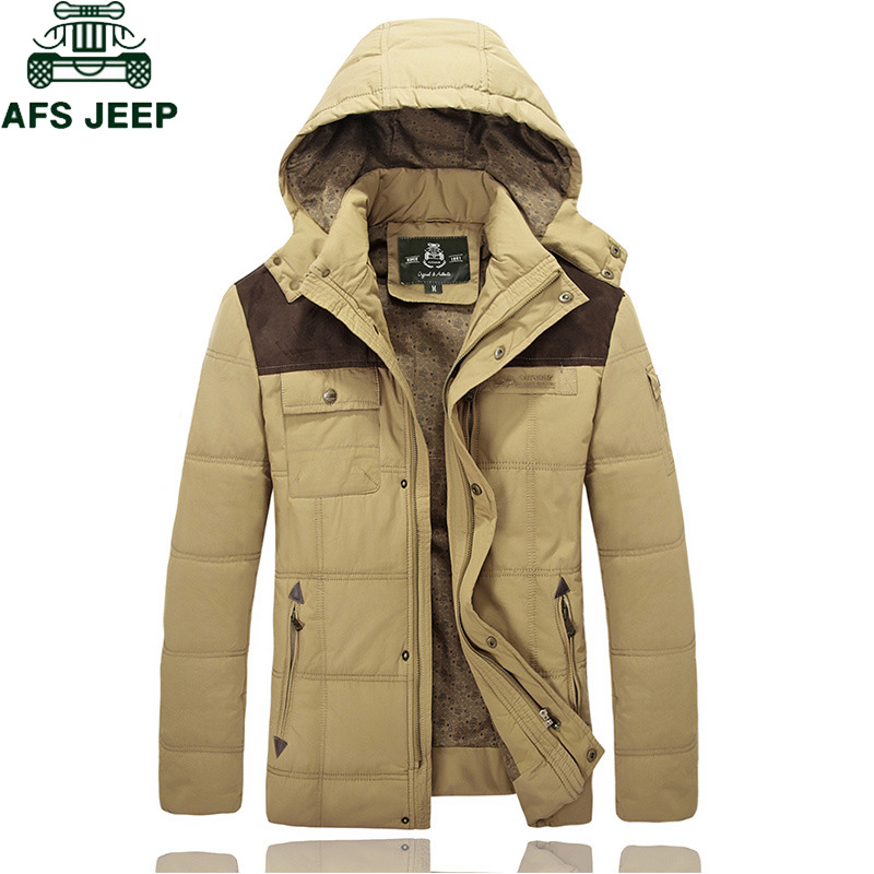 Afs JEEP Brand Winter Parka Jacket Men 2018 Casual Hooded Thick Warm Windbreaker jaqueta masculina Plus Size 4XL parkas hombre