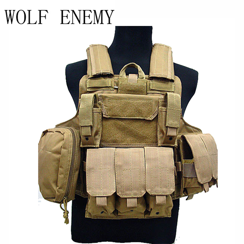 цена на Tactical Vest CS Wargame Airsoft Paintball MOLLE CIRAS Combat Vest CIRAS Tactical Vest With Triple Magazine Pouch ACU/WOODLAND
