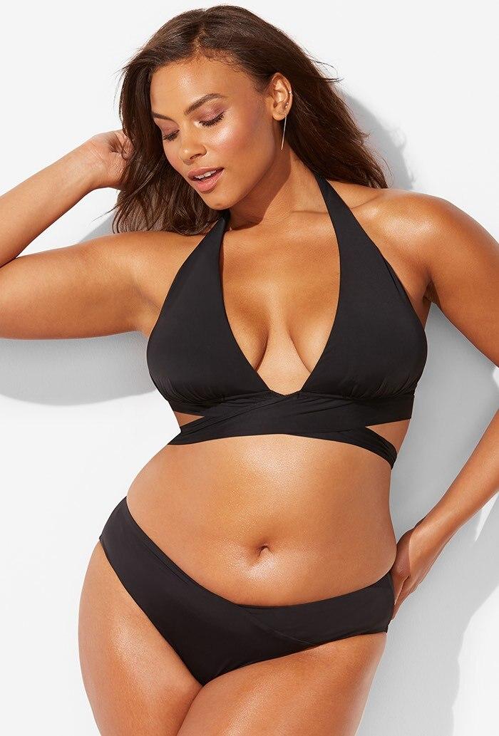 M&M Plus Size Bikini Sets Womens Pop Swimwear High Waist Bathing Swimsuit Big Fat