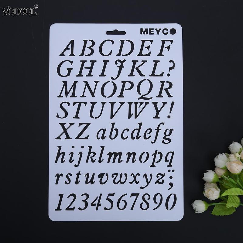 Hollow DIY Alphabet Number Lettering Stencil Template Letter Stencils Painting Decorative Paper Word Student School Supplies
