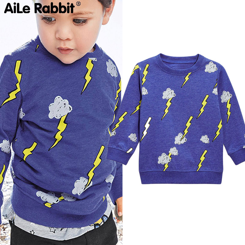 T-Shirt Rabbit-America Sweater Long-Sleeve Printing Children's Thick Aile Wear B1 Paragraph