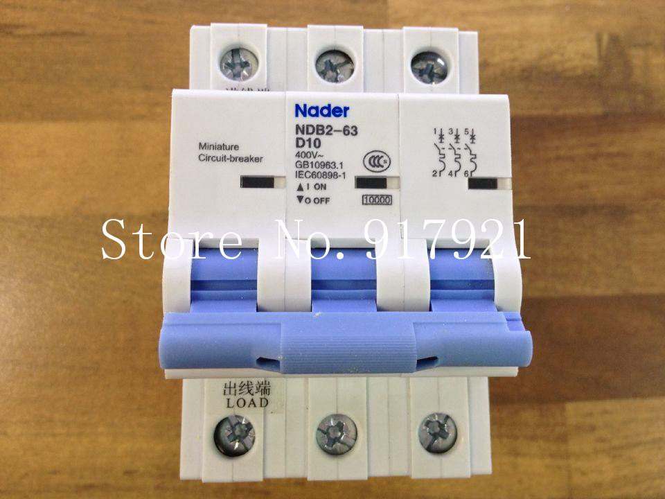 [ZOB] Nader NDB2-63 D10 circuit breaker 3P10A letter to ensure genuine --5pcs/lot