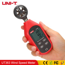 UNI-T UT363 Handheld Speed Wind Meter Anemometer Air Flow Digital Measurement Temperature Tester LCD Display