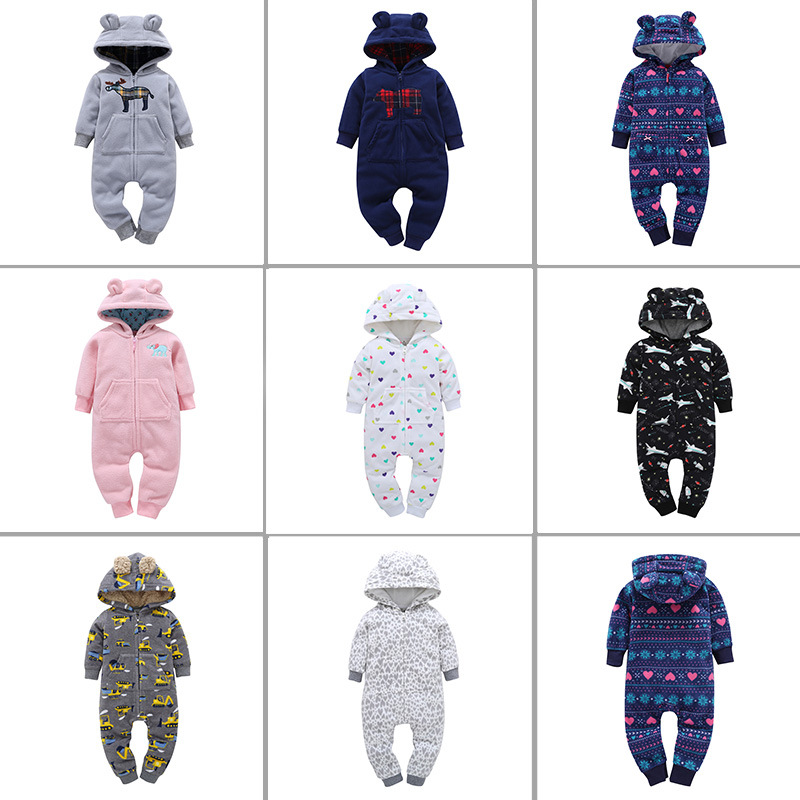 2018 NEW !! Baby romper / winter outfits / Skull /bear/ reindeer /airplane /truck / Santa print