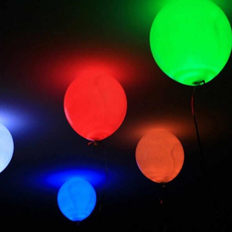 20 chiếc ĐÈN LED Bóng Ánh Sáng Bóng Cao Su Nhiều Màu Heli Balo Giáng Sinh Trang Trí Halloween Cưới Sinh Nhật Bóng Bay