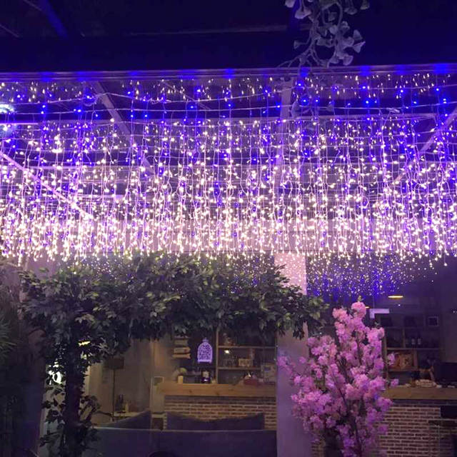 Us 22 57 20 Off 6m 1m Icicle Led Curtain Light Fairy Holiday Garland String Lights For Wedding Christmas Party Festival Outside Decoration Jq In
