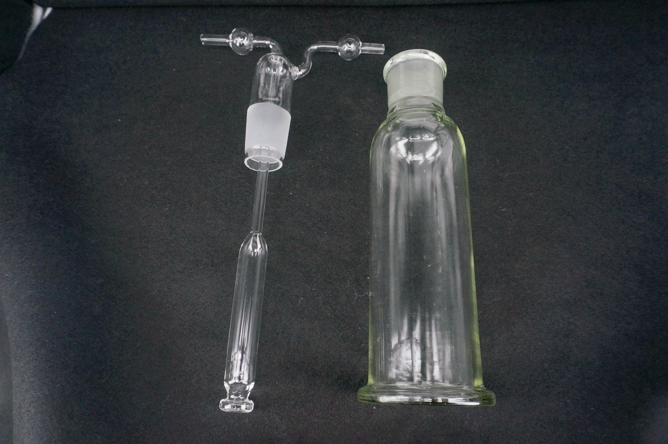 Lab 250ml Glass Gas Washing Bottle Multihole Glassware Chemical Instruments Lab Use