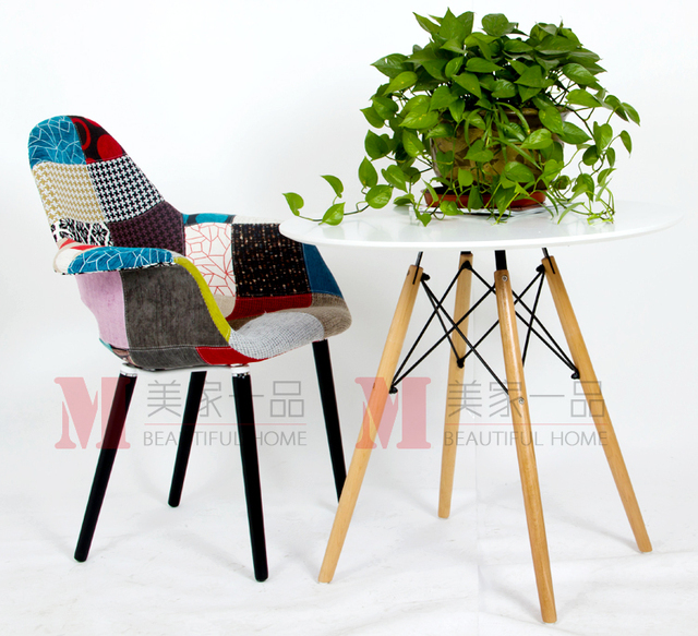 Fashion Sofa Fabric Type Continental One Hundred Cloth Chair Lounge Chair  Wood Chair Comfortable Chairs Minimalist