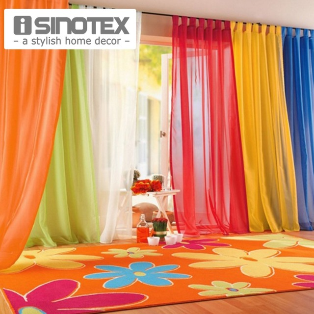 iSINOTEX Window Curtains Hot Sale Solid Color For Living Room Bedroom Curtains Window Home Decor 140*240cm/100*200cm 1PCS Home Decor & Accessories