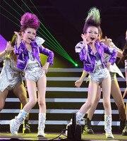 Children Jazz Costume Personality Girls Modern Dance hip hop costume Stage Wear
