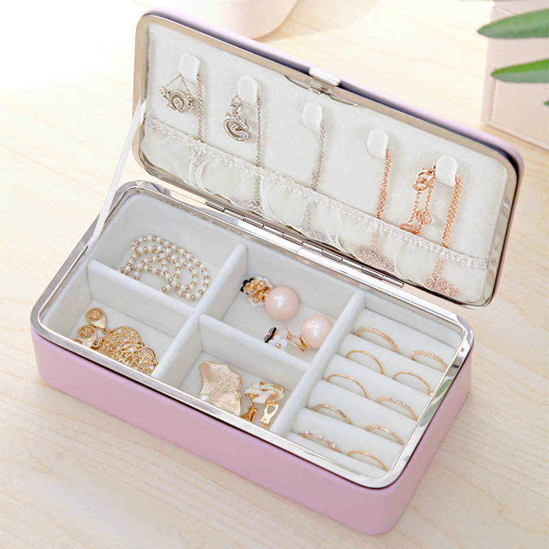 Women Fashion Makeup Organizer Jewelry Box Exquisite Necklace Rings Earrings Bracelet Packaging Container Collection Accessories(China)