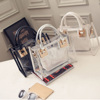 New Fashion Women Clear Transparent Shoulder Bag 1